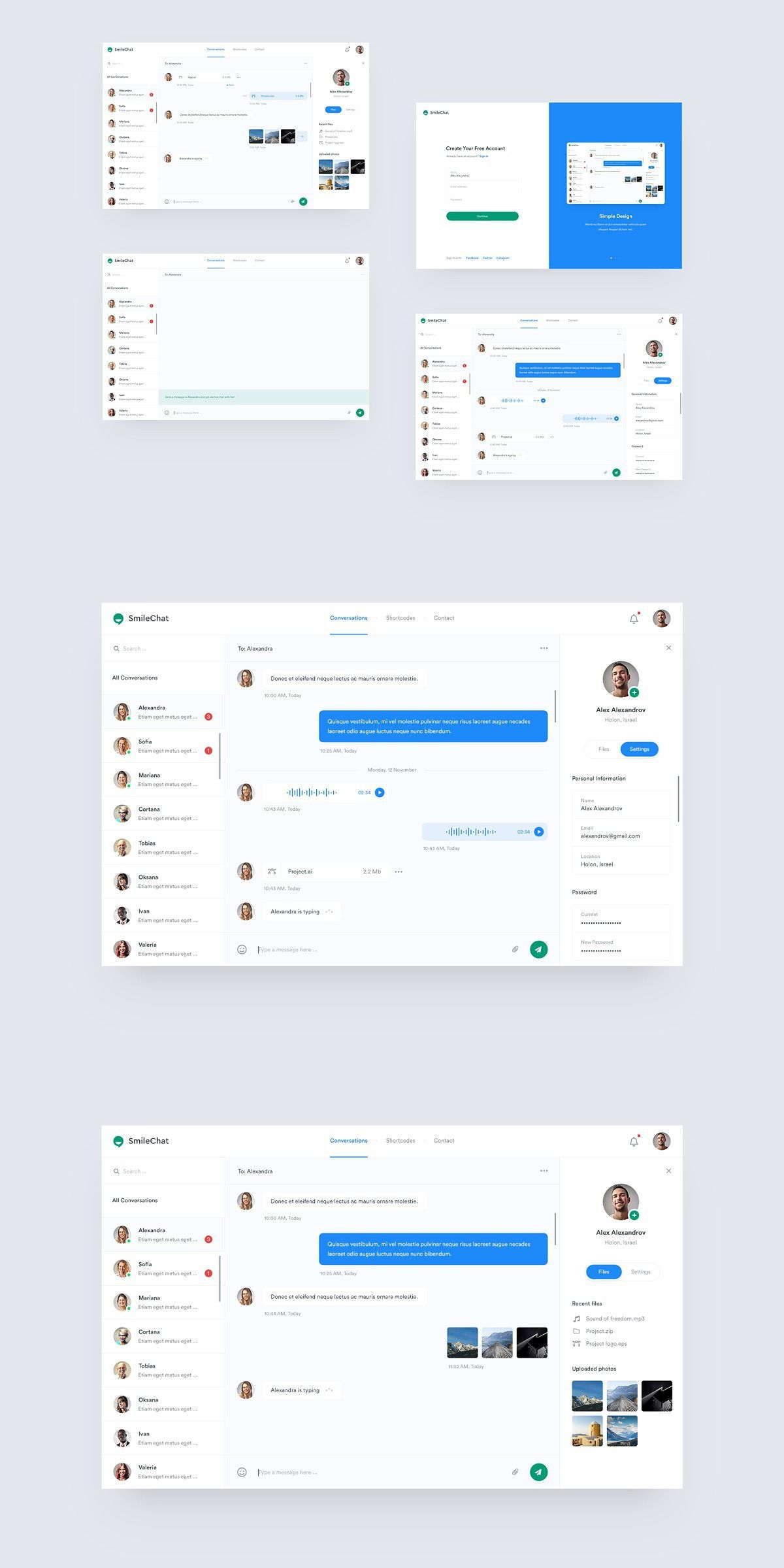 Smilechat Chat Psd Template Psd Templates Templates Page Design