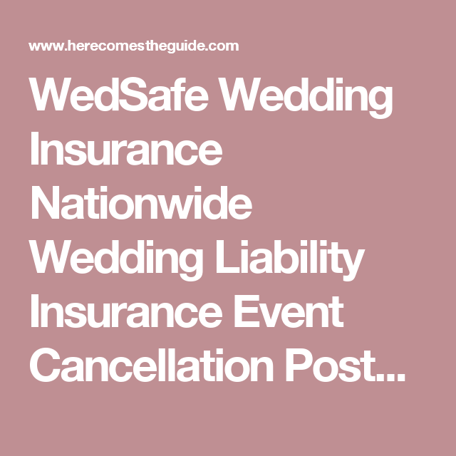 Nationwide Quote Inspiration Wedsafe Wedding Insurance Nationwide Wedding Liability Insurance