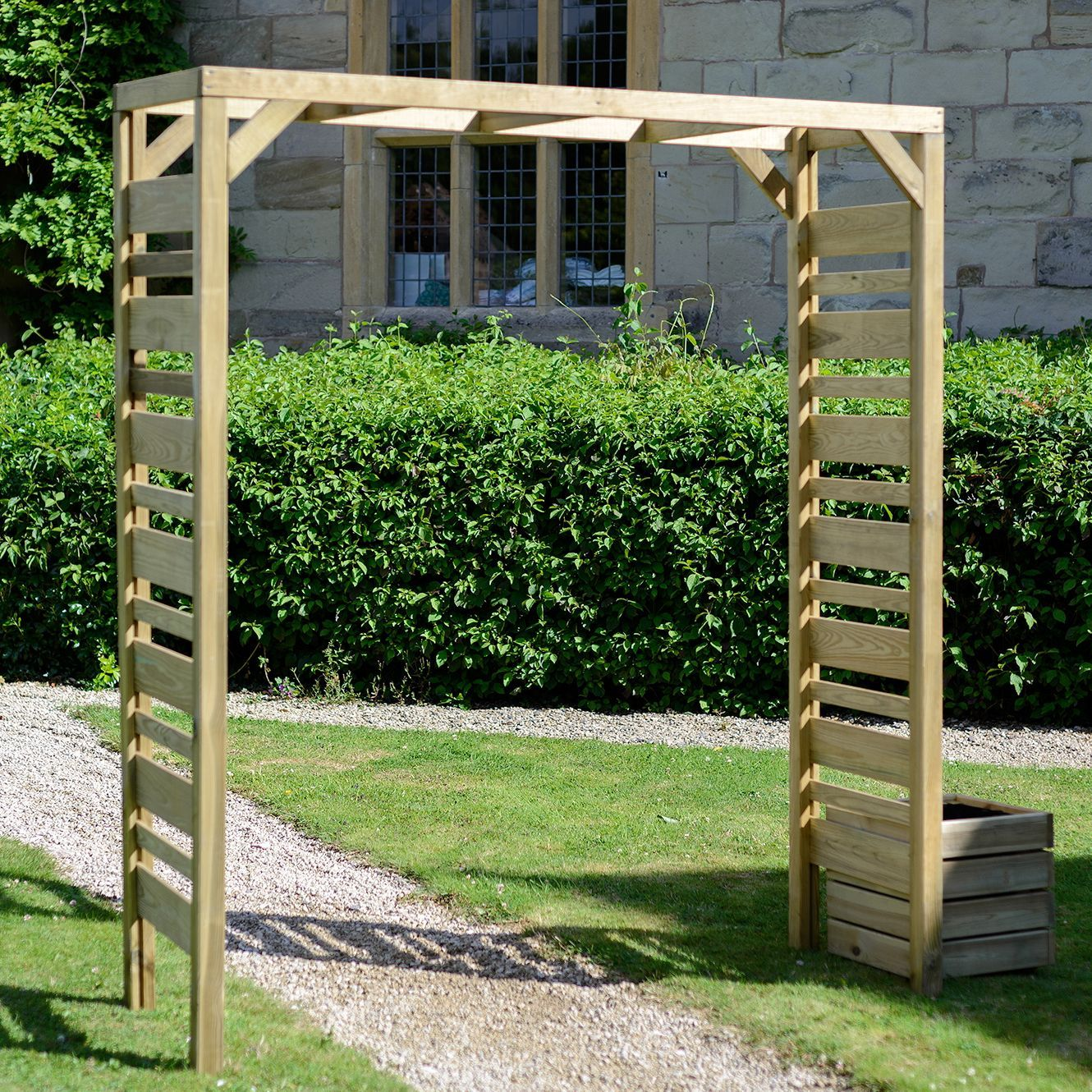 Urban Wooden Garden Arch Departments Diy At B Q With Images