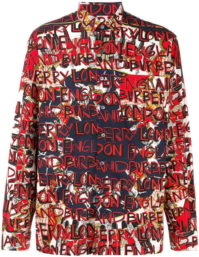60944536c Burberry graffiti print shirt | Products in 2019 | Shirts, Printed ...