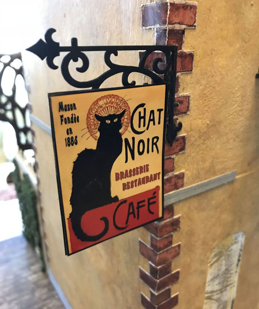 Artfully Musing CAFE du CHAT NOIR The Black Cat Cafe