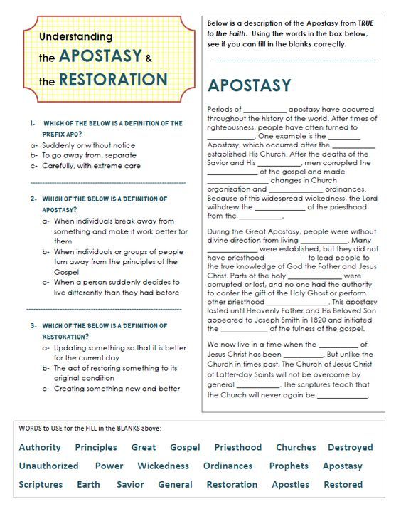 Why was a Restoration Necessary? Teaching Package (PDF
