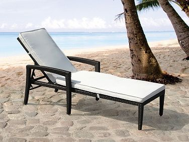 garden furniture sun lounger perugia brown