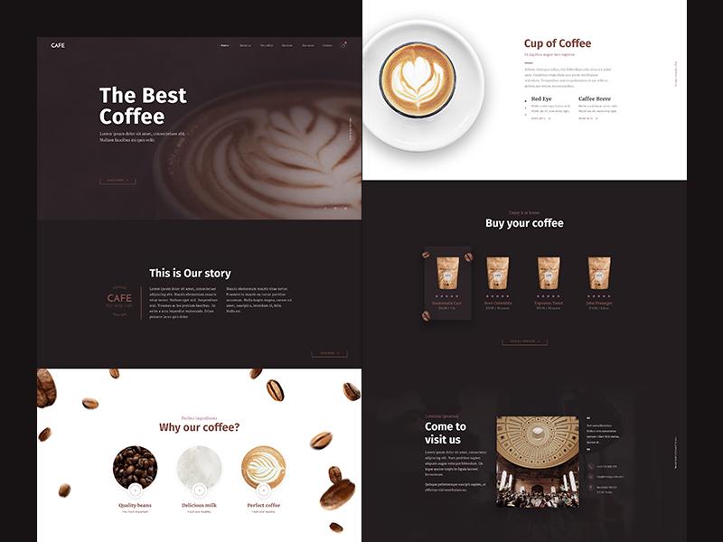 Cafe Website Concept Cafe Website Cafe Website Design Coffee Websites