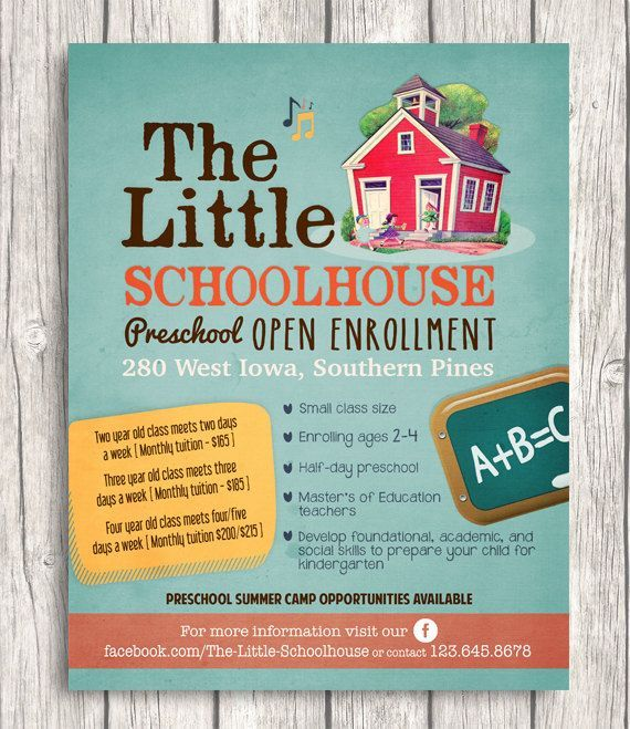 Custom Flyer design Promo poster Event or Business Advertisement - sample preschool brochure
