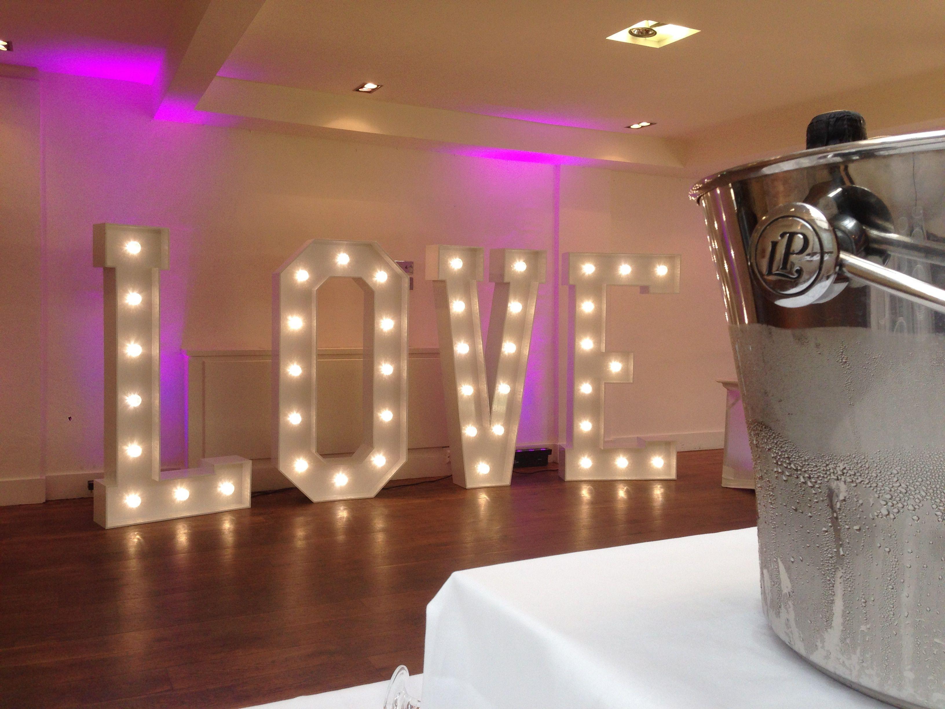 49 best Light Up Letters For Weddings images on Pinterest