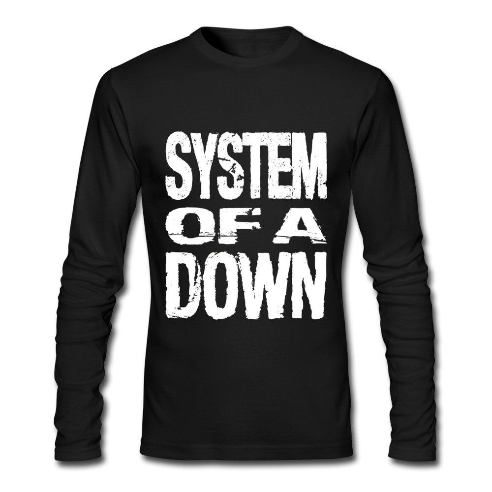 T shirt design quick delivery - Huimin Men S System Of A Down Band Logo Long Sleeve T Shirt Xl Cotton Digital Direct Printing Eco Friendly Ink Machine Wash Without Fade Fast Delivery
