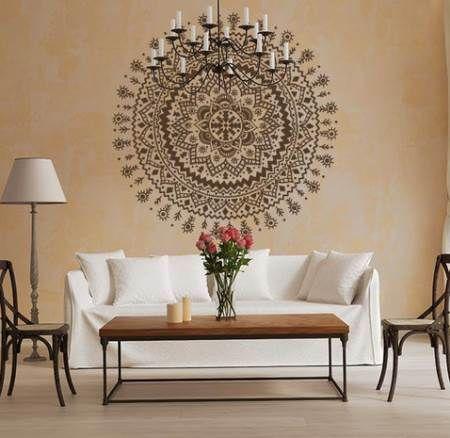 Vinilo decorativo mandala dormitorios matrimoniales for Vinilos pared mandalas
