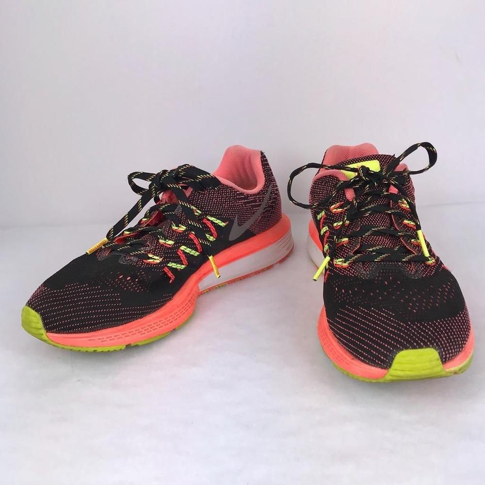 sale retailer 25f92 1488c Women s Nike Air Zoom Vomero 10 Sneaker Size 7.5 Black Salmon Running  Training   eBay