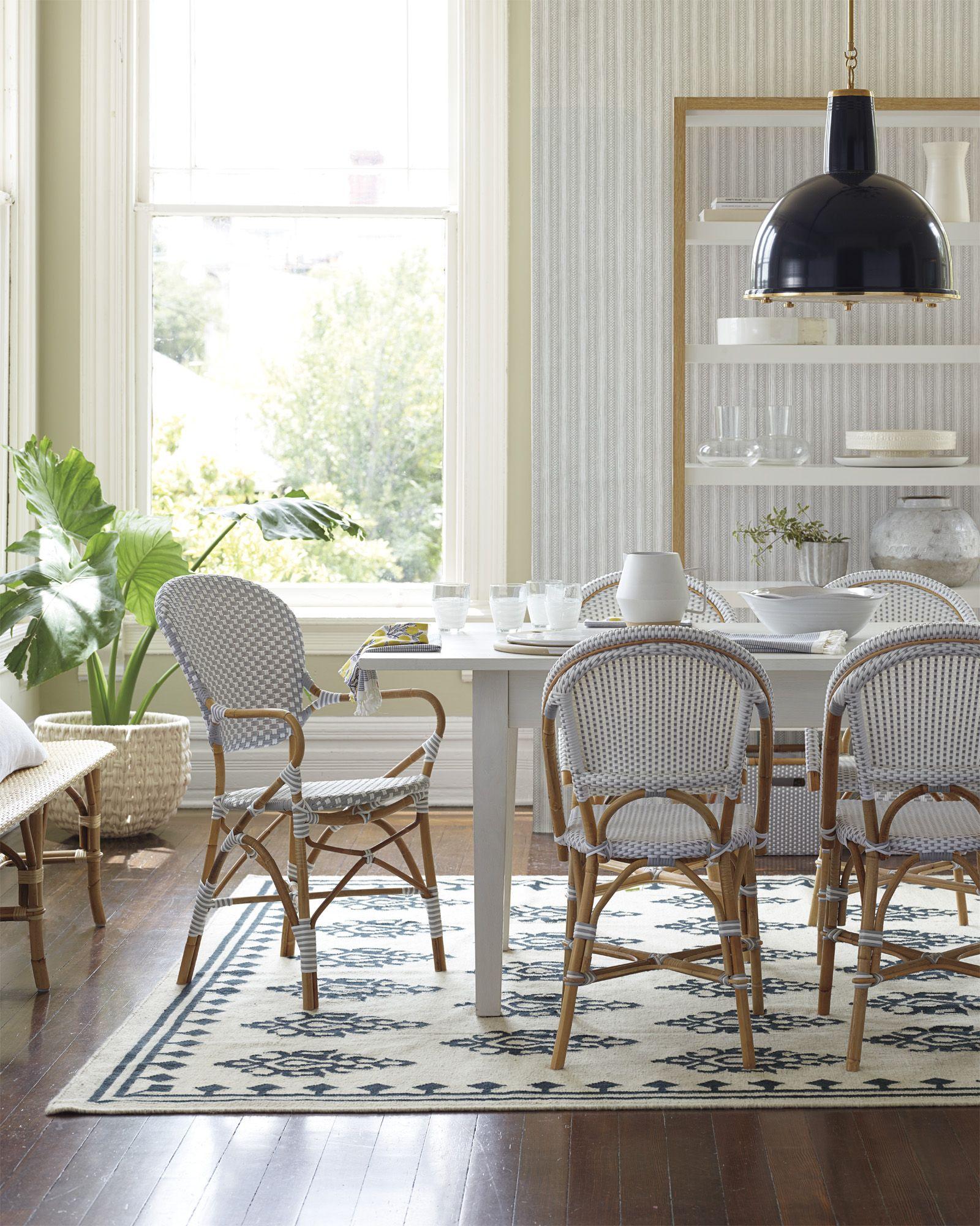 The Natural Dining Room | Riviera Chairs And Marina Medallion Kilim Via  Serena U0026 Lily