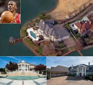 Nba Legend Michael Jordan S New 2 8 Million House In North Carolina Has A Personal Dock Celebrity Houses Hollywood Homes Celebrity Mansions
