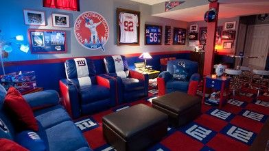 NY Giants Mancave. Super Bowl Page: Https://www.facebook.