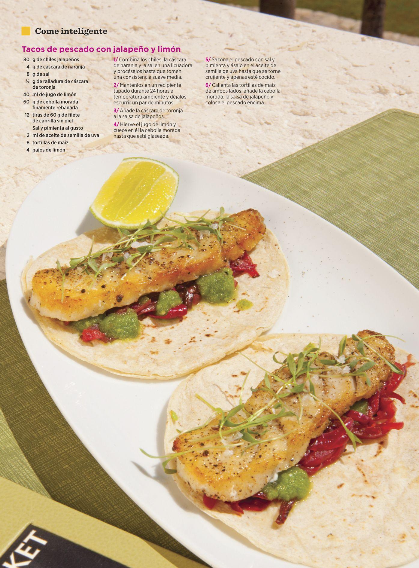 El chef Jean-Georges Vongerichten del restaurante Market, en San José del Cabo, creó esta receta de Tacos de pescado con jalapeño y limón para Women's Health.