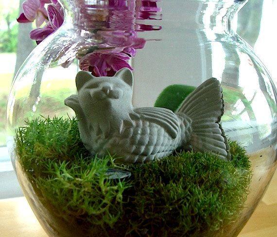 SALE Delightful Zen Mini KatFish Cat Mermaid Bonsai by