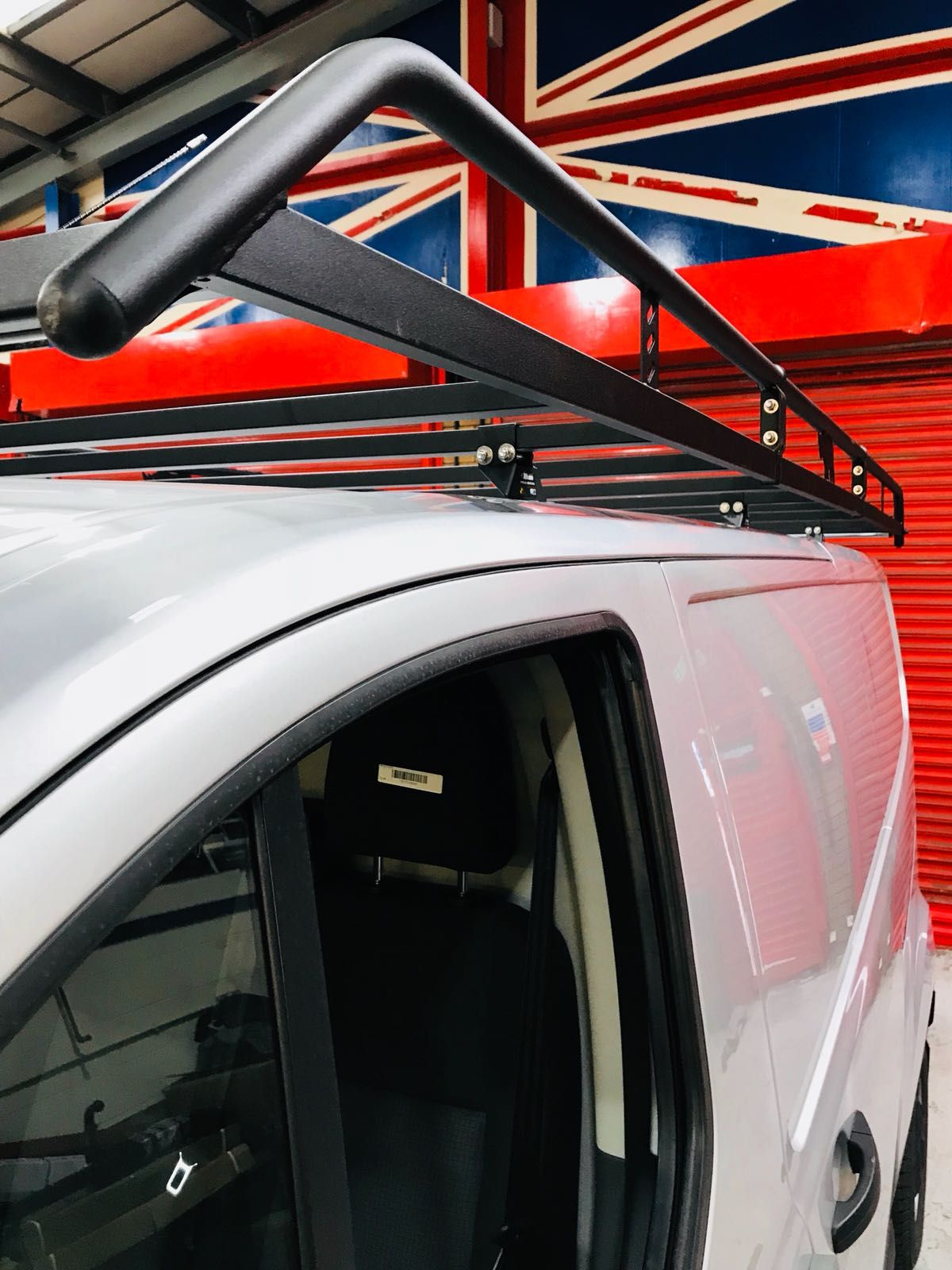 Rhino Roof Rack fitted to a Ford Transit Custom, Derby