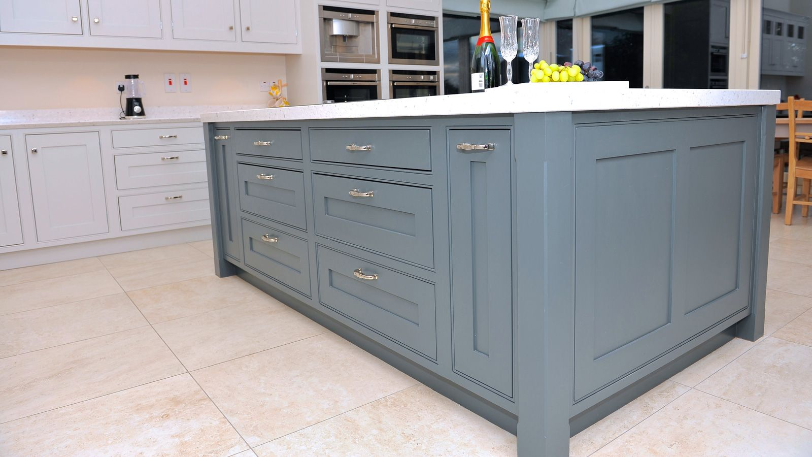 Tara Hill A contemporary in-frame Shaker style kitchen featuring ...