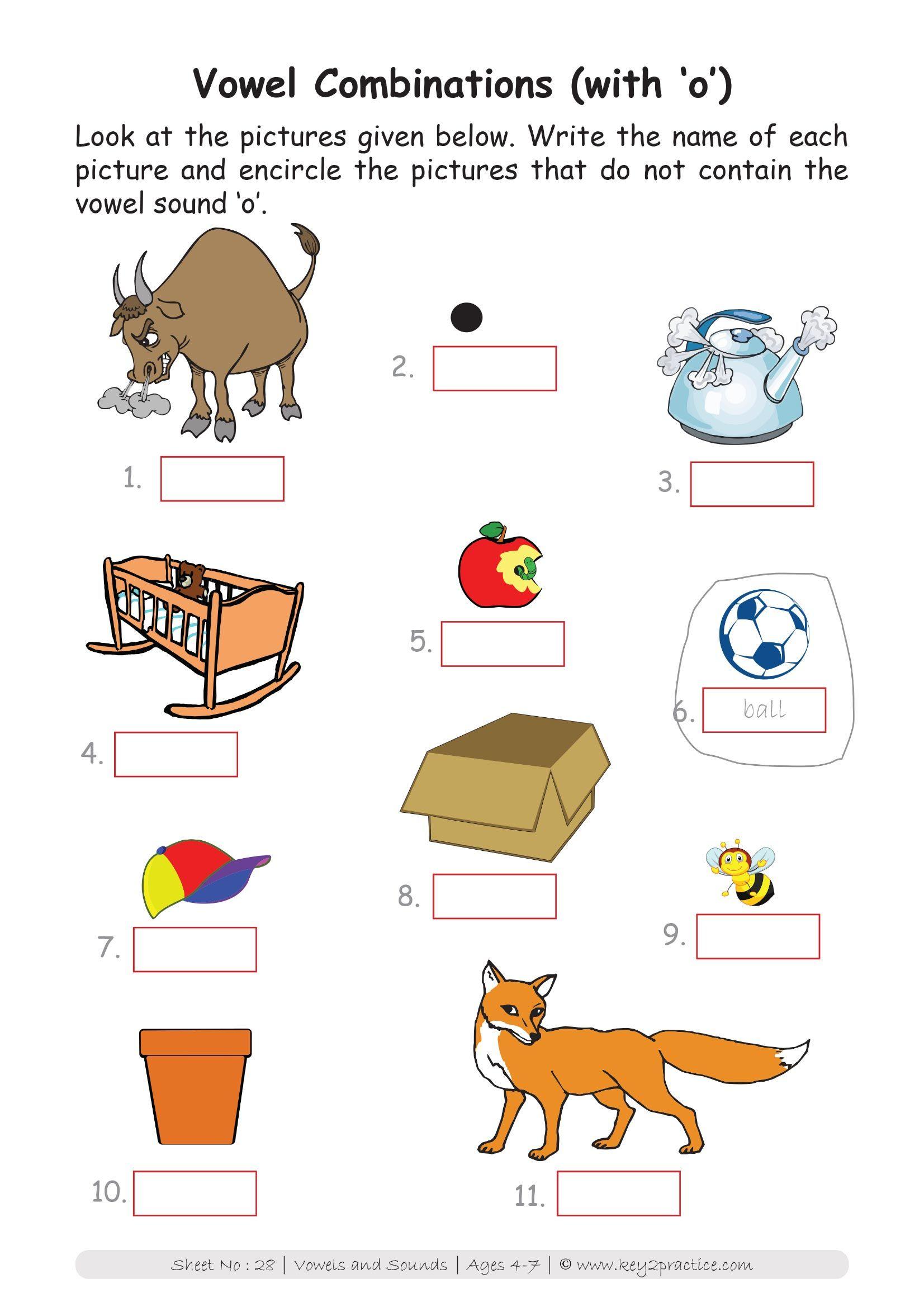 English Worksheets Grade 1 Workbook Vowels Amp Sounds In