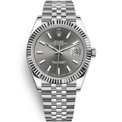 126334 Rolex Datejust 41 Steel White Gold Rhodium Jubilee Watch