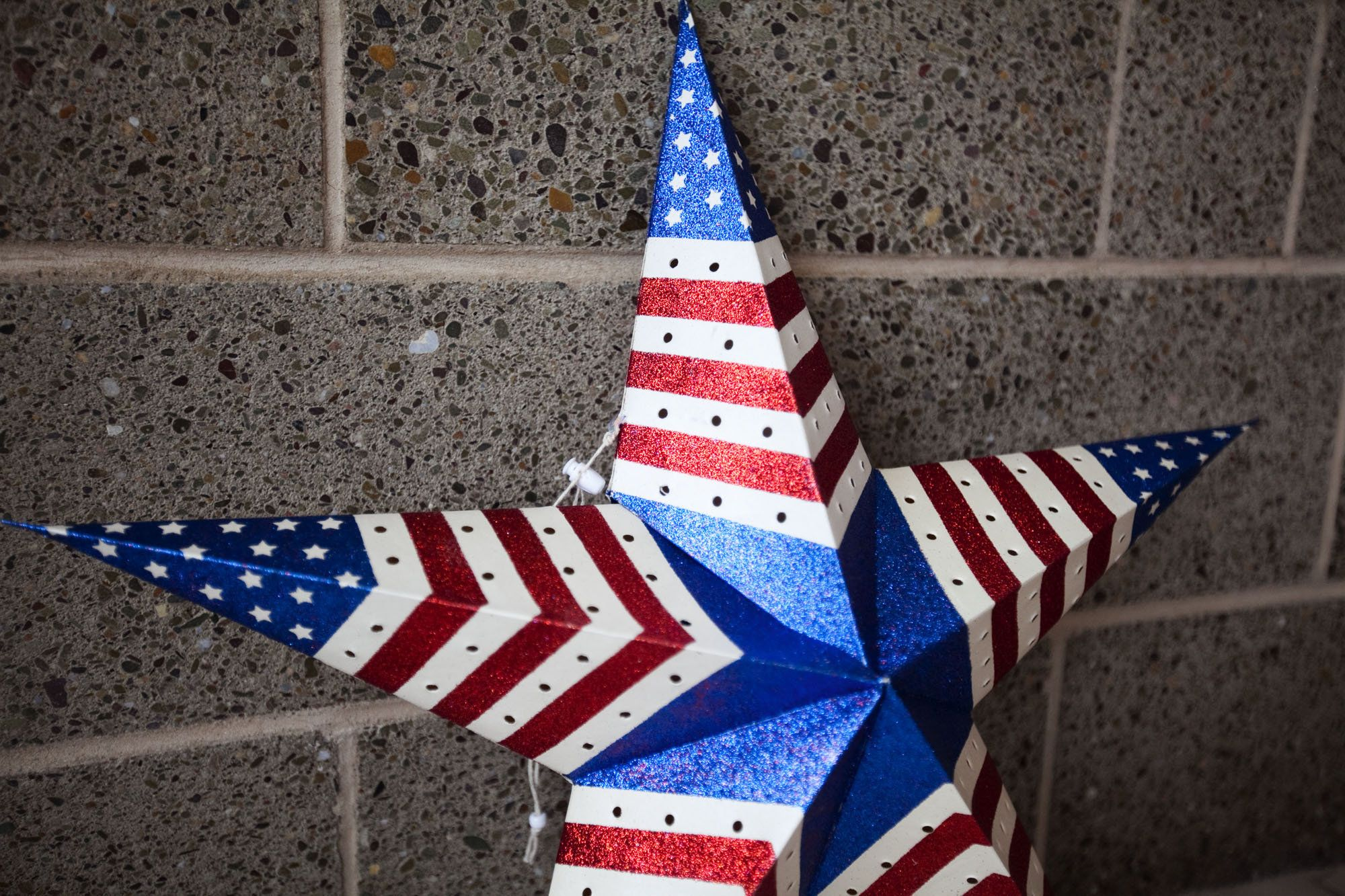 Beautiful Patriotic Decorations Part - 8: Exterior Patriotic Decorations With An Amazing Star The Occasional Usage Of Patriotic  Decorations