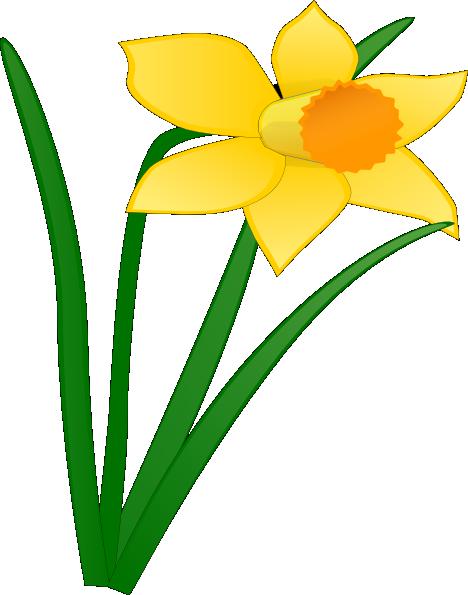 Daffodil Flower Clip Art Daffodil 1 Clip Art At Clker Com Vector Clip Art Flower Clipart Flower Drawing Clip Art