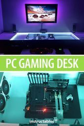 PC Gaming Desk Build   - Electronics Projects - #Build #Desk #electronics #Gaming #Projects #gamingdesk