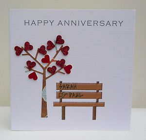 Personalised Anniversary Card Husband Wife Son Daughter Any Anniversary Personalized Anniversary Cards Anniversary Cards Handmade Anniversary Cards For Husband