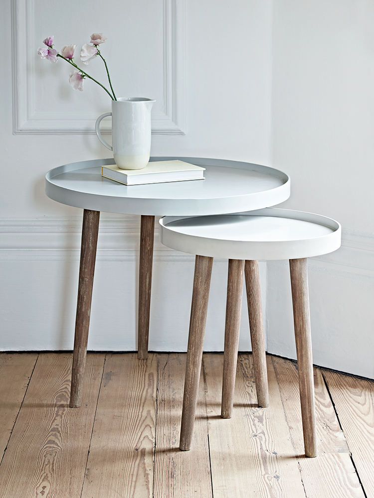 With Three Scandinavian Style White Cedar Legs And A Smooth Modern