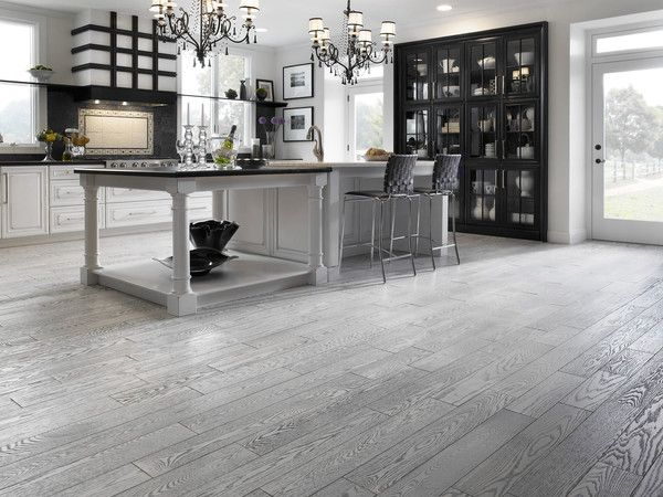 Light Grey Kitchen Floor wire brushing - provides a smooth finish, low gloss level. a