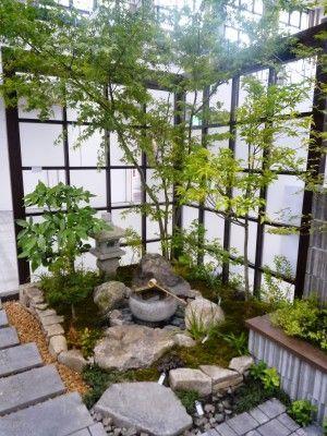 蹲(つくばい)のあしらい   BACKYARD PLANS   Japan garden, Japanese ...