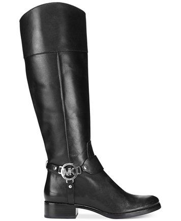 Harness boots, Black leather boots tall