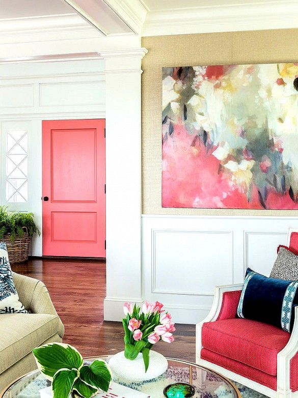 Pink Yellow Wall Color Living Room   Home - Paint & Wallpaper ...