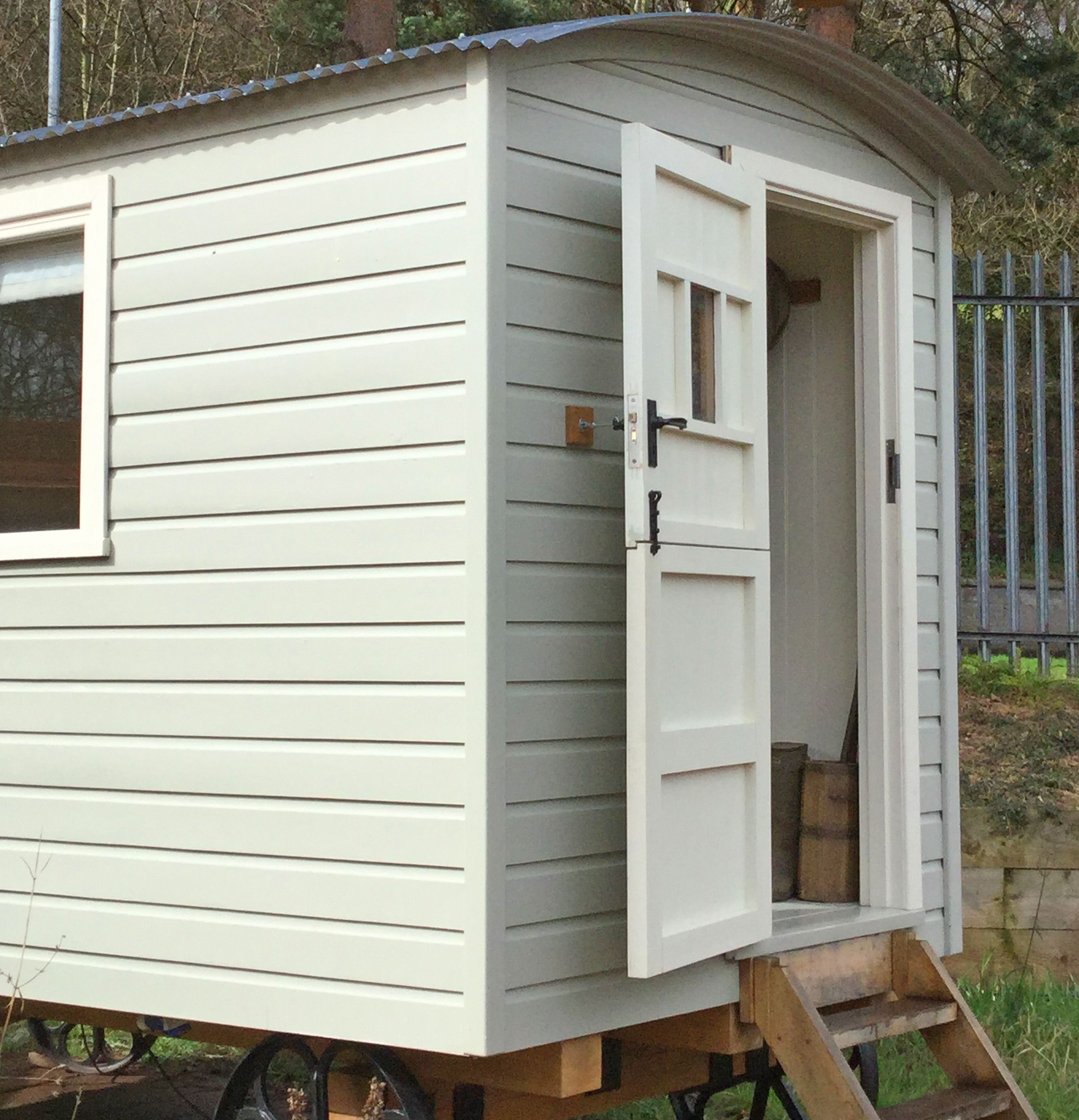 Shepherds Hut on display at Leek show site Photo credit: Mansell ...