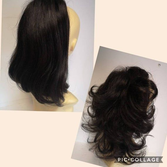 Black 1B 100% human ponytail extensions /drawstring, two styles in one hairpiece approx 13 inches #fullerponytail
