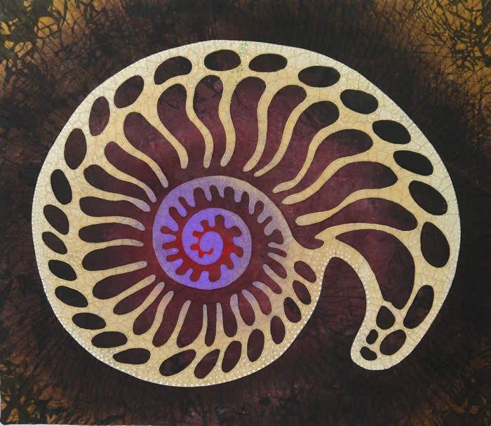 """Nautilus"" betty busby--fine art in fiber"