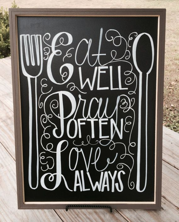 Chalkboard For Kitchen Or Dining Room