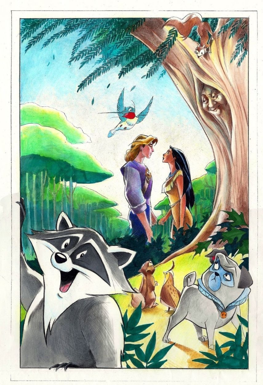 Pocahontas, une Légende Indienne [Walt Disney - 1995] - Page 13 D1b7fdbe49851889a704d4badd97682b