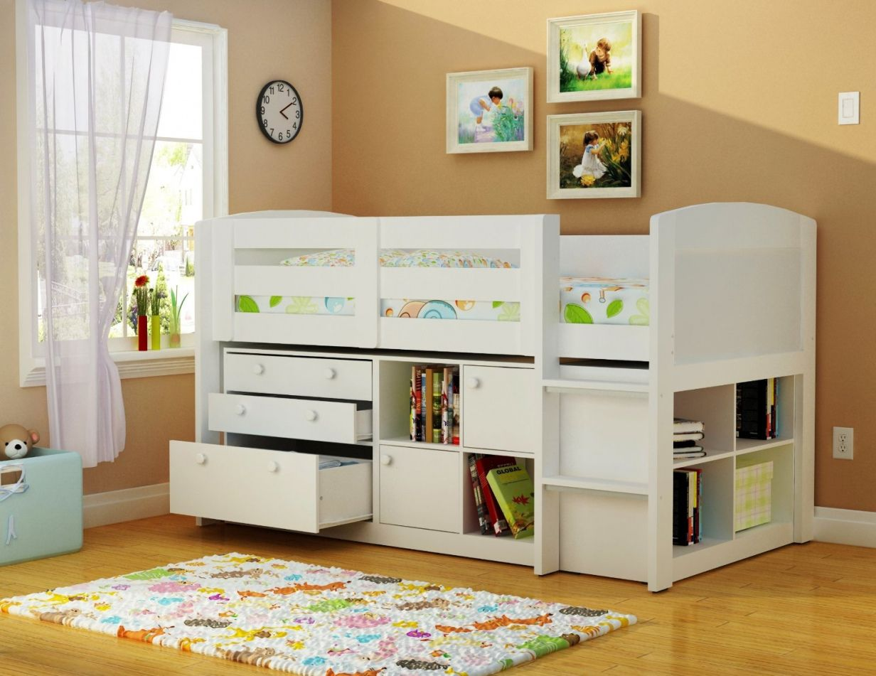 Awesome White Bunk Beds with Storage Underneath Check more