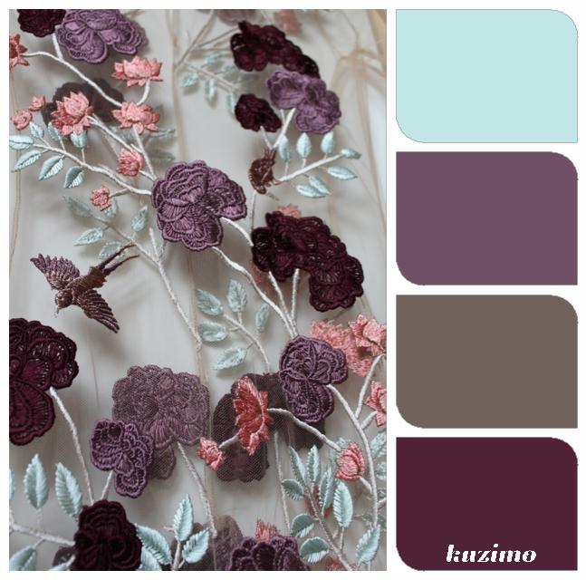 Palettes de couleurs- Prune   Palette couleur