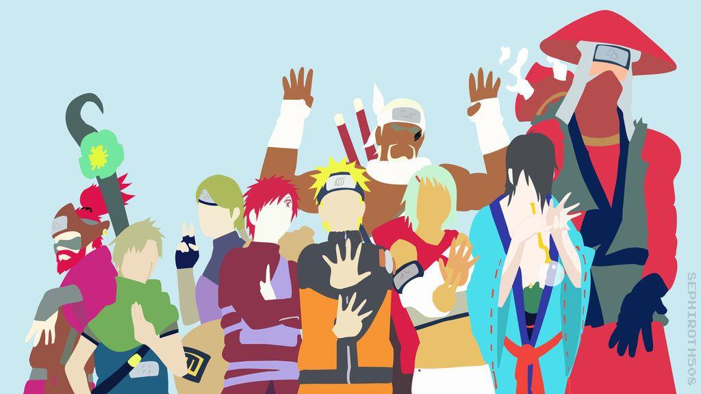 Jinchuuriki (Naruto Shippuden)   Minimalist by Sephiroth508 on DeviantArt