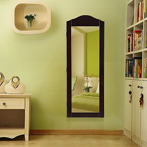 Door Mount Mirrored Jewelry Cabinet, Jewelry Cabinet Wall Mounted Mirrored Armoire Storage Organizer