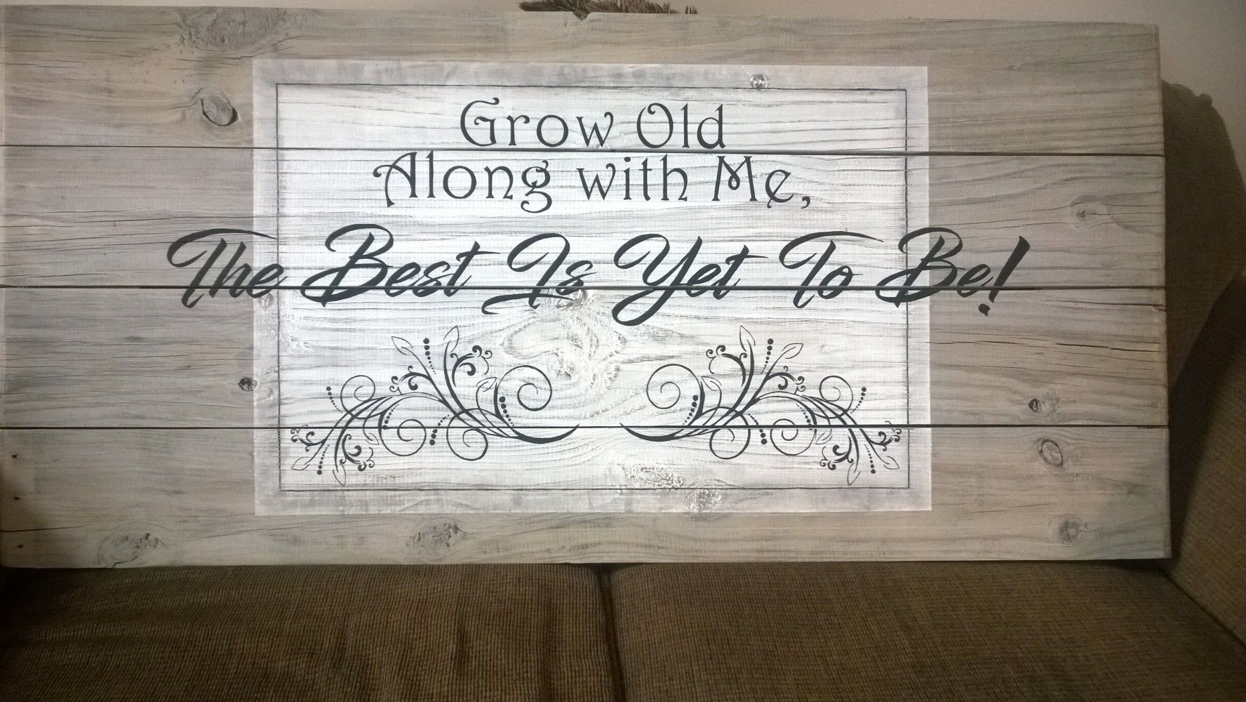 Grow old along with me wood sign @Doe.zDesigns   Signs, Wood signs, Sign i