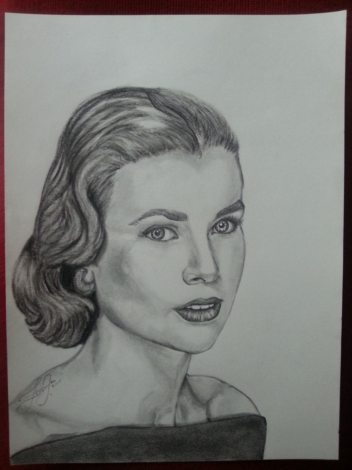 3c5cfb2472 Grace Kelly / Pencil Drawing - portrait (+Brand New frame in 2019 ...