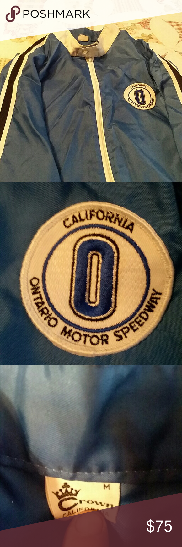 Ontario speedway wind breaker Vintage jacket, Clothes design