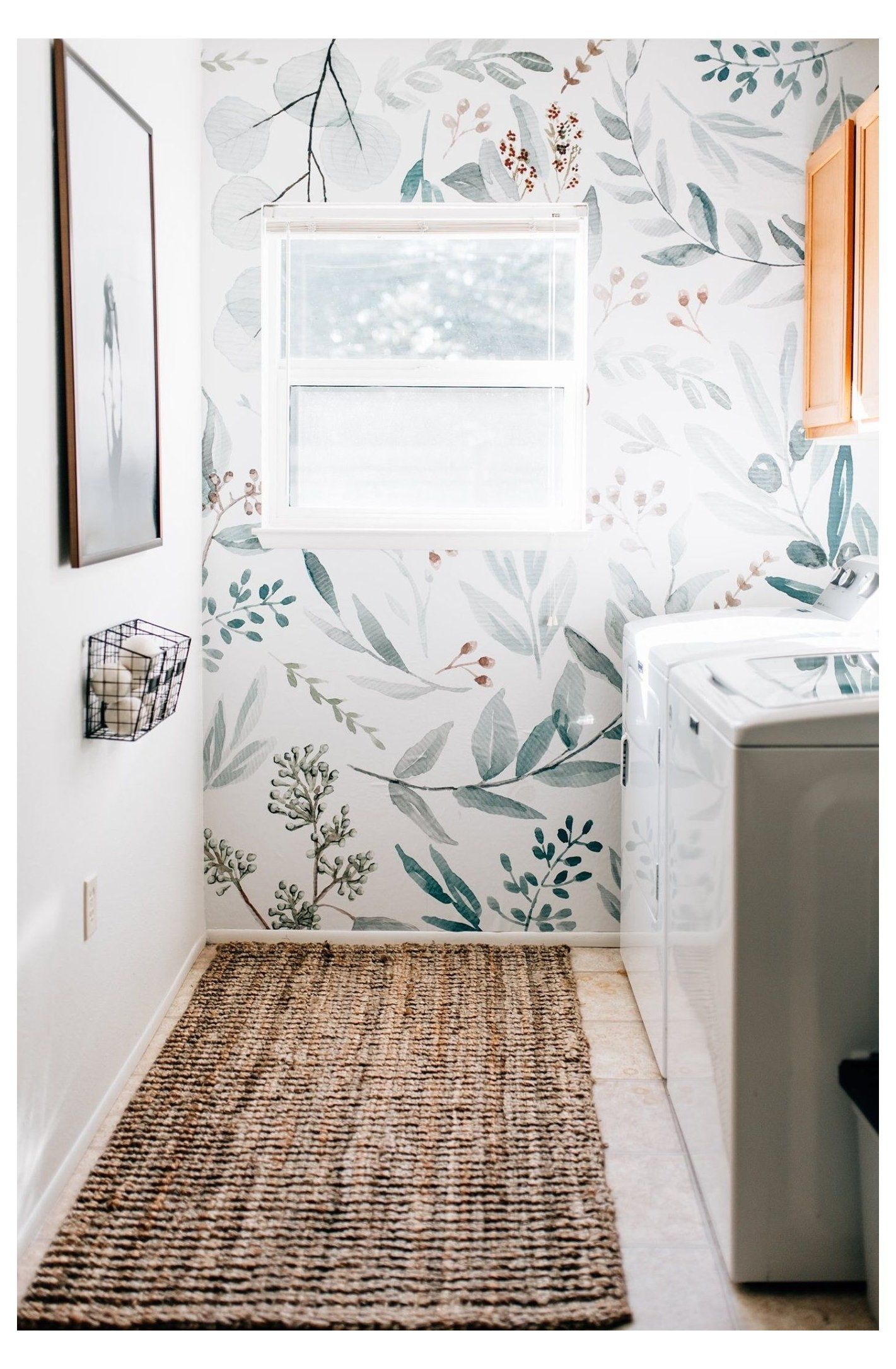 laundry room wallpaper