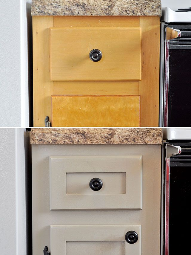 Adding Trim to Cabinets! (Hint: Do NOT use yardsticks for the trim ...