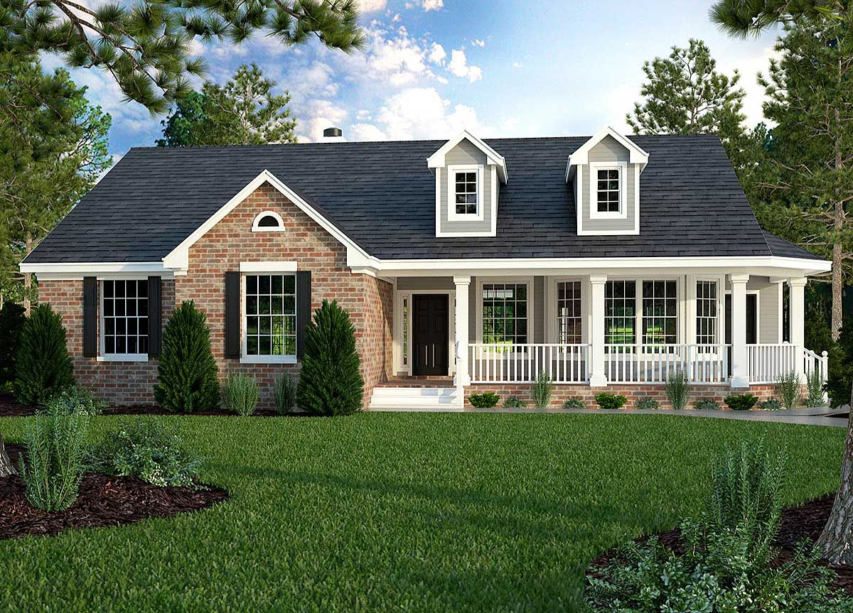 Plan 31093d Great Little Ranch House Plan Country Style House Plans Ranch House Plans Craftsman Style House Plans