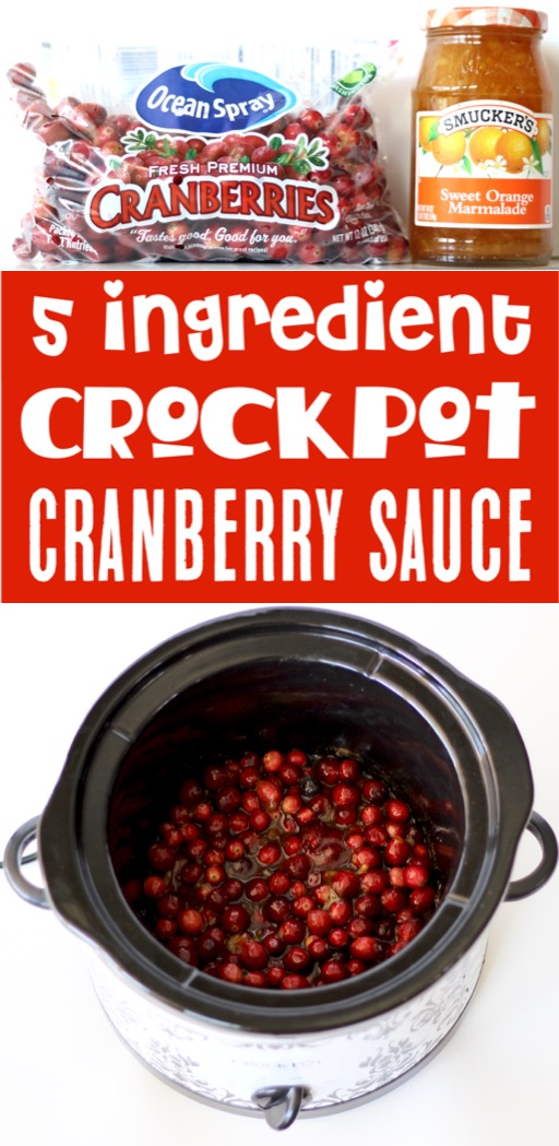 Thanksgiving Recipes Easy Homemade Crockpot Cranberry Sauce!