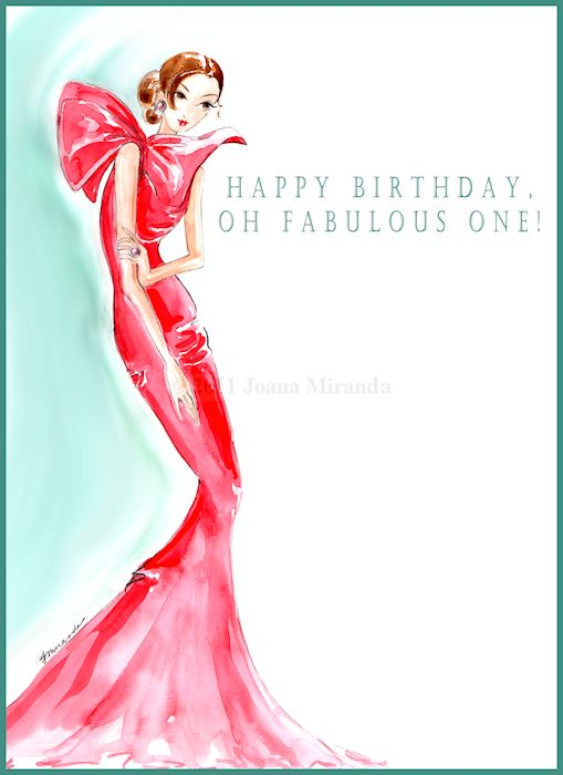 17 Best images about CARDS – Fashion Birthday Cards