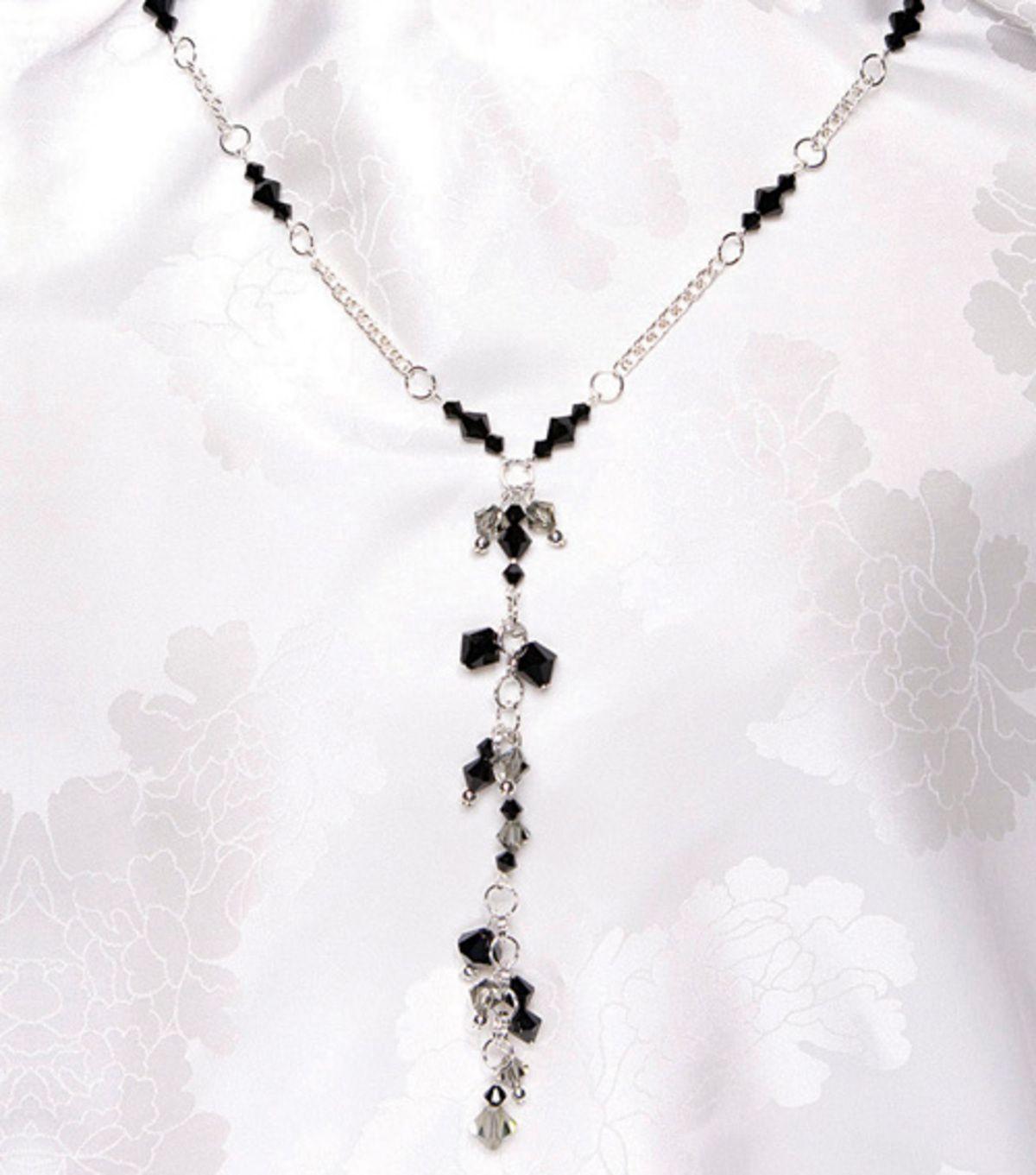 Salt & Pepper Crystal NecklaceSalt & Pepper Crystal Necklace