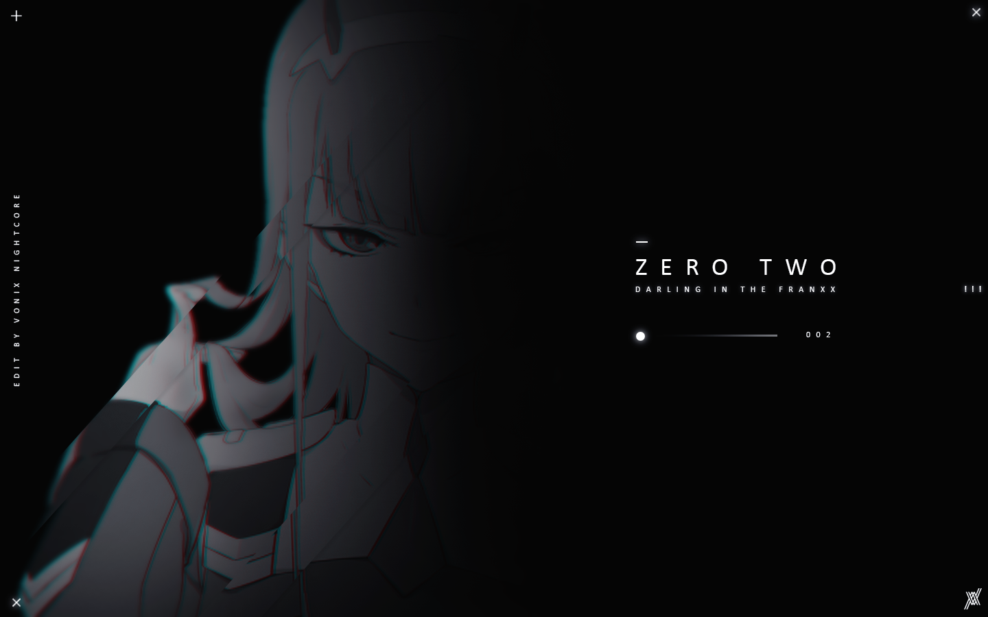 Wallpaper Zero Two Darling In Franxx Black White Zero Two Photoshop Editing Black And White